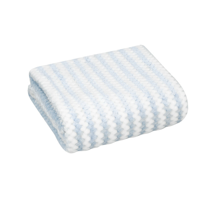 Little Legend Blue Stripe Waffle Blanket