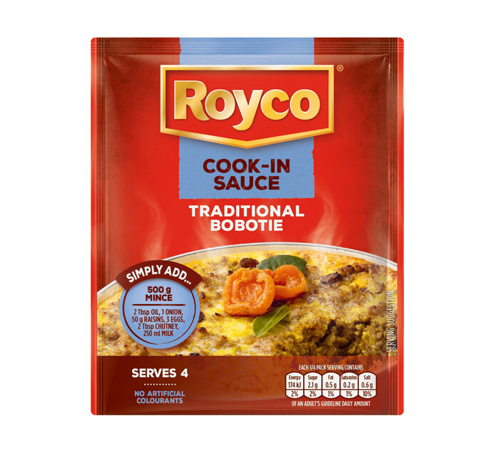 Royco Dry Cook-in-Sauce Traditional Bobotie (20 x 50g)