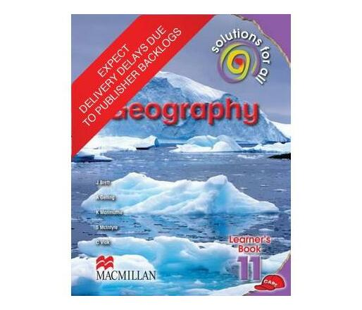 Solutions for all geography: Gr 11: Learner's book