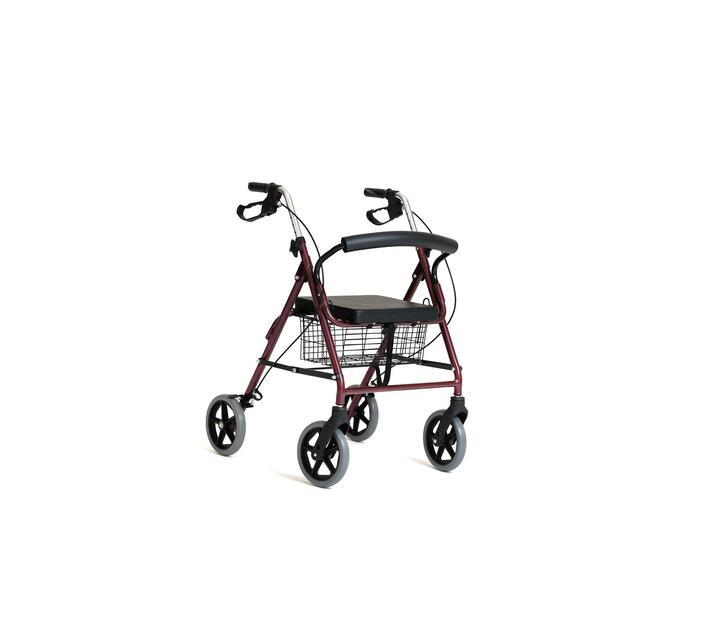 Four Wheel Aluminium Walker Wheelchair with Handbrake
