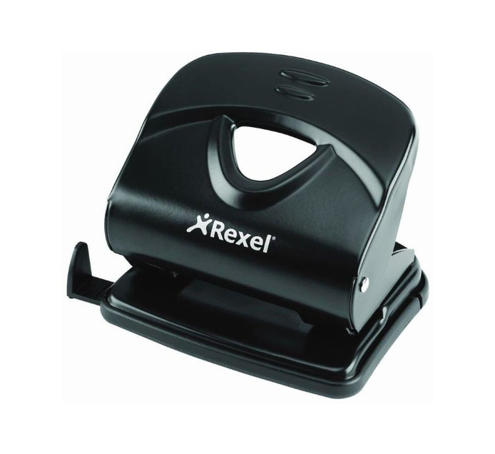 Rexel V230 30 Sheets Punch Black Each Black
