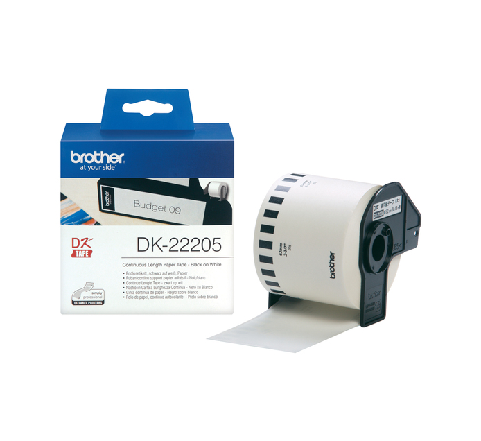 Brother 62 mm x 30.48 m DK-22205 Continuous Length Label Roll