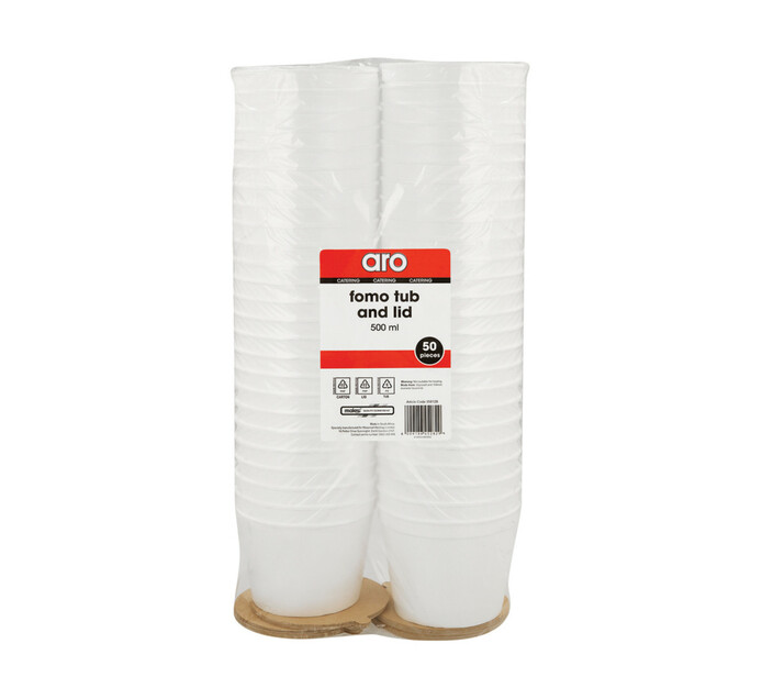ARO Fomo Cup And Lid (1 x 500ml x 50's)