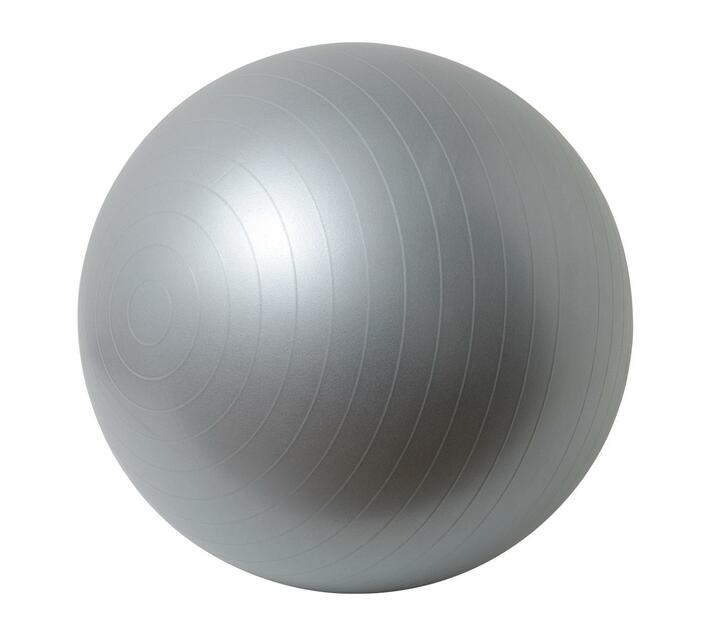 Volkano Active Anti-Burst 65cm Gym & Yoga Ball in Gunmetal Grey with Anti-Slip with Strips and Matte Surface