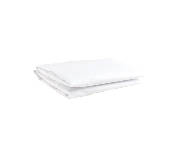 LARGE CAMP COT FITTED SHEET - WHITE