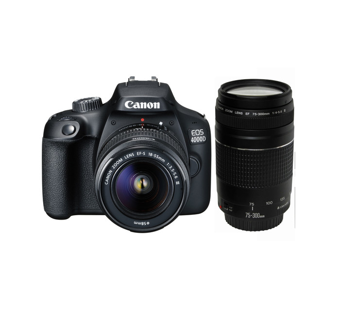 Canon 4000D DSLR Twin Lens Camera Kit