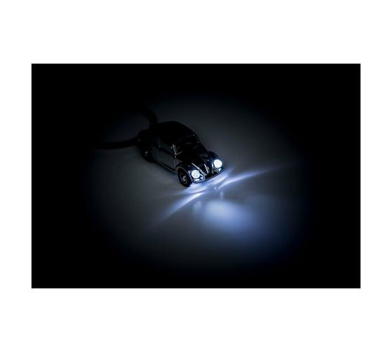 Troika Keyring with White LED light Light Beetle 1964