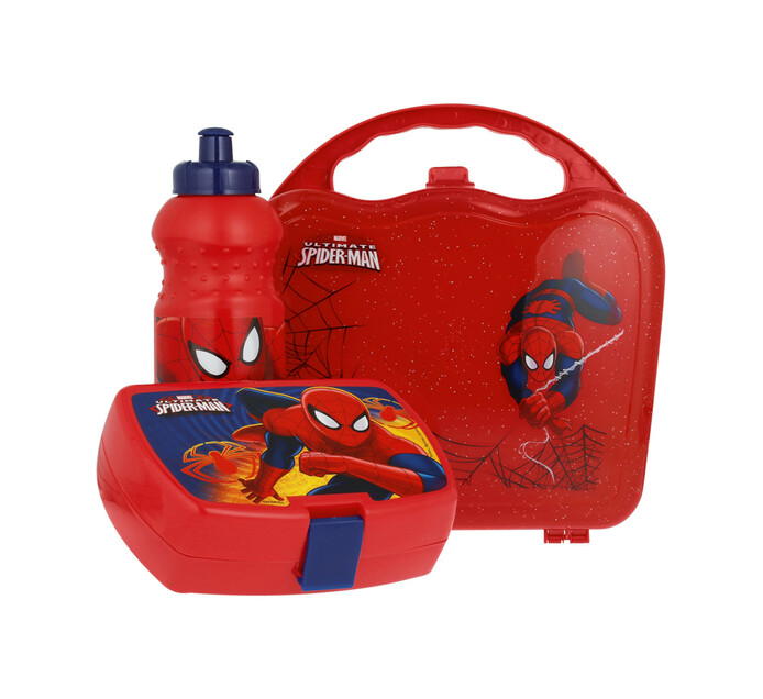 Spiderman Lunch Box and Bottle Set