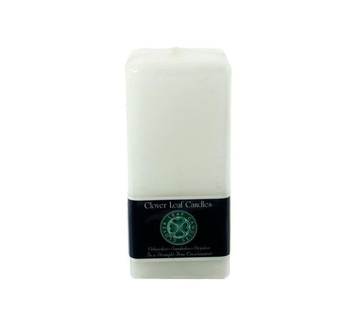 7x7x18cm Square Pillar Candle White