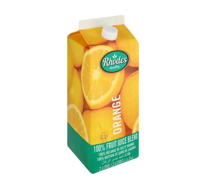 Rhodes 100% Fruit Juice Blend Orange (6 x 2l)