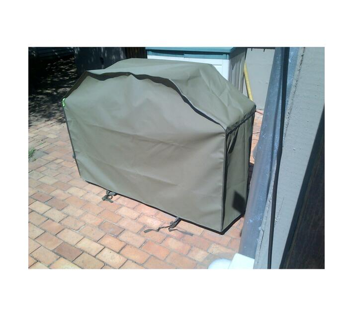 Patio Solution Covers Gas Braai Cover Medium - Dove Grey Ripstop UV 260grm