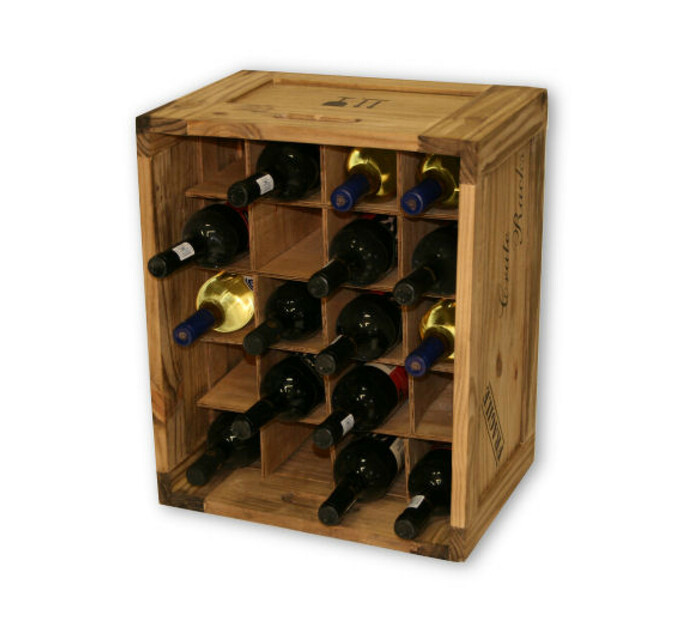 River Woods Large 20 Bottle Wooden Wine Crate