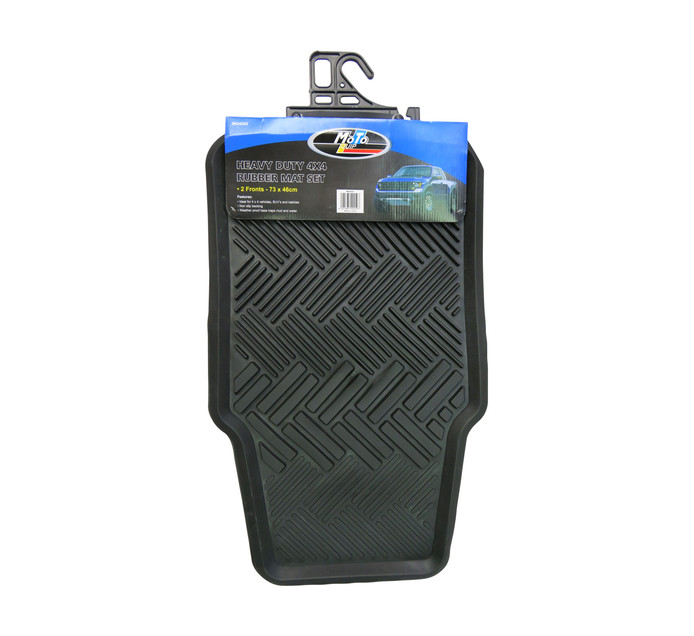 Moto-quip 2 Piece Rubber Mat Set