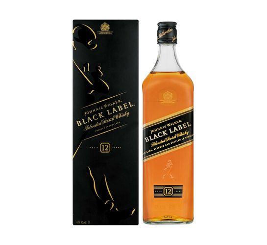 Johnnie Walker Black Label Scotch Whisky (1 x 1 l)