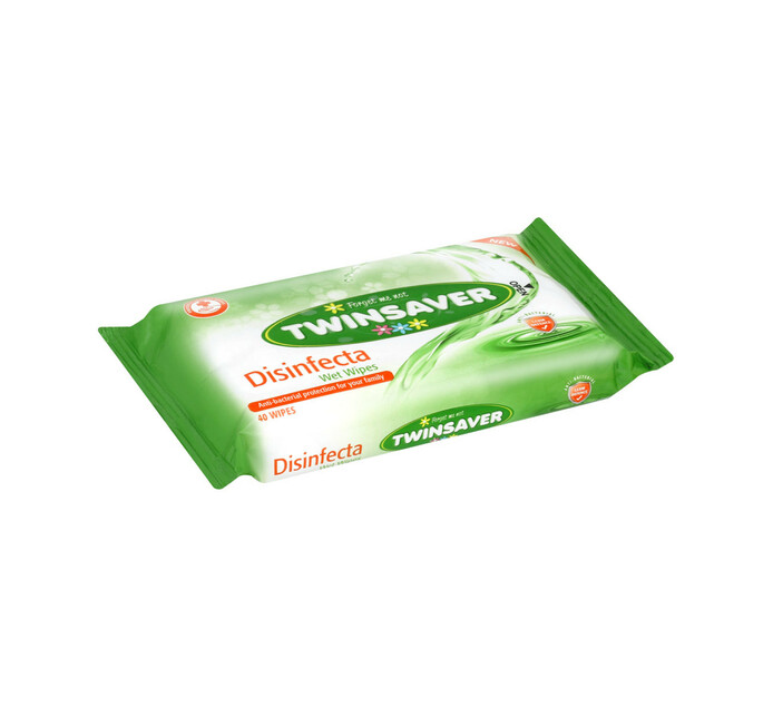 Twinsaver Hygiene Wipes Disinfecta (20 x 40's)