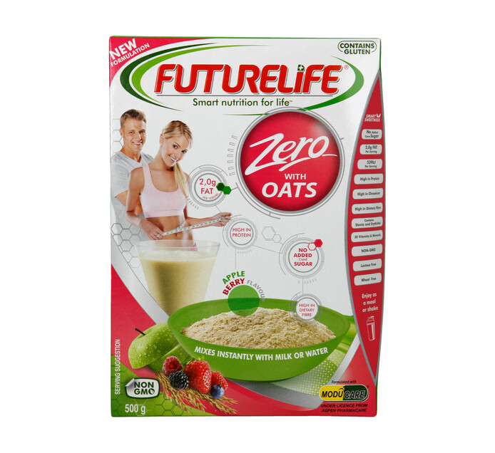 Futurelife Zero Smart Food with Oats Apple Berry (1 x 500g)