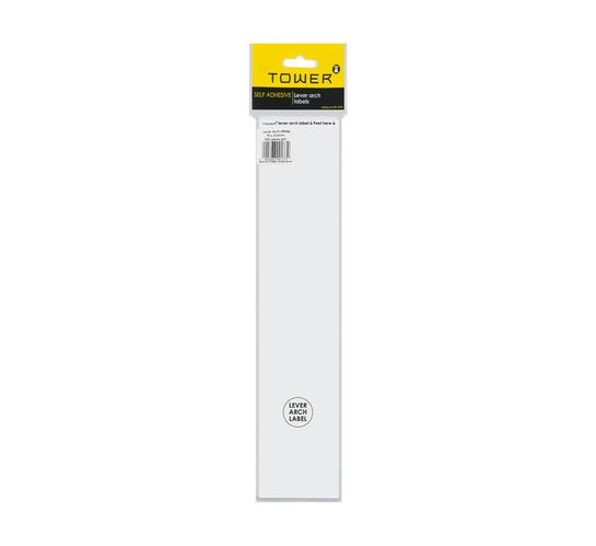 Tower Lever Arch Labels White 100-Pack White