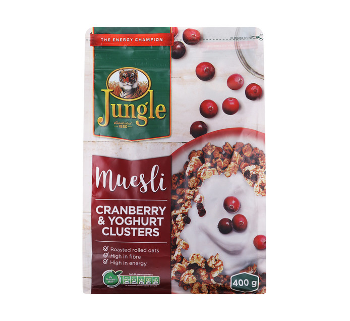 Jungle Muesli Cranberry And Yoghurt (1 x 400g)