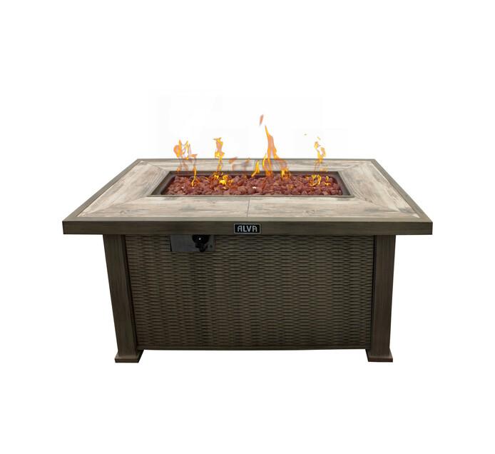 Alva Lava Rock Gas Fire Table