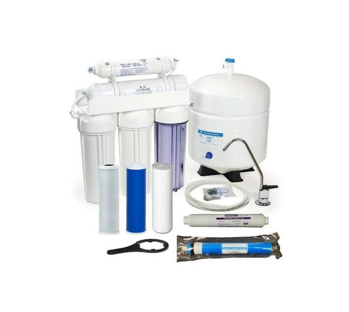Reverse Osmosis Water Filtration System - 5 Stage 100 GPD includes tank, NO pump
