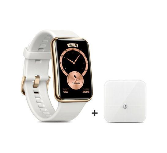 Huawei Watch Fit Elegant (White) plus Fat Scale Bundle