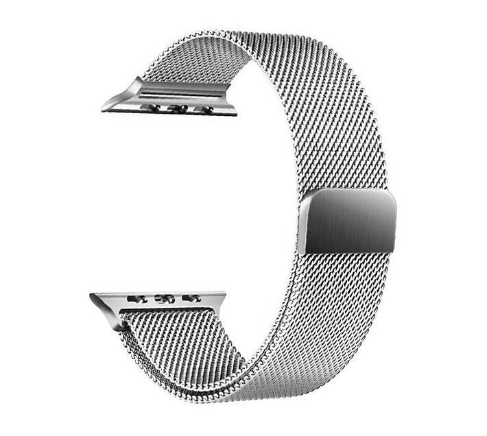 38mm Milanese Loop Apple Watch Strap by Zonabel - Silver Stainless Steel