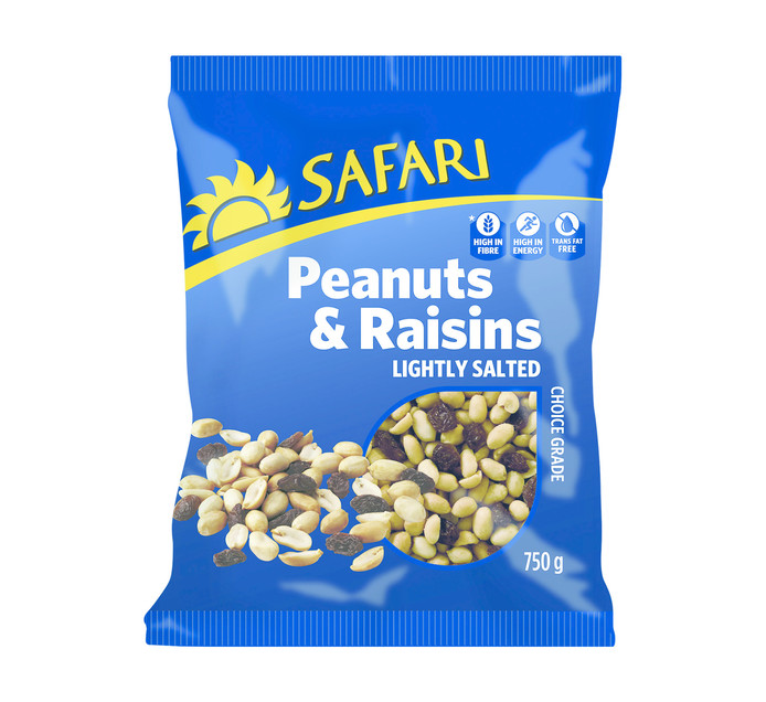 Safari Nuts Peanuts & Raisins (1  x  750g)