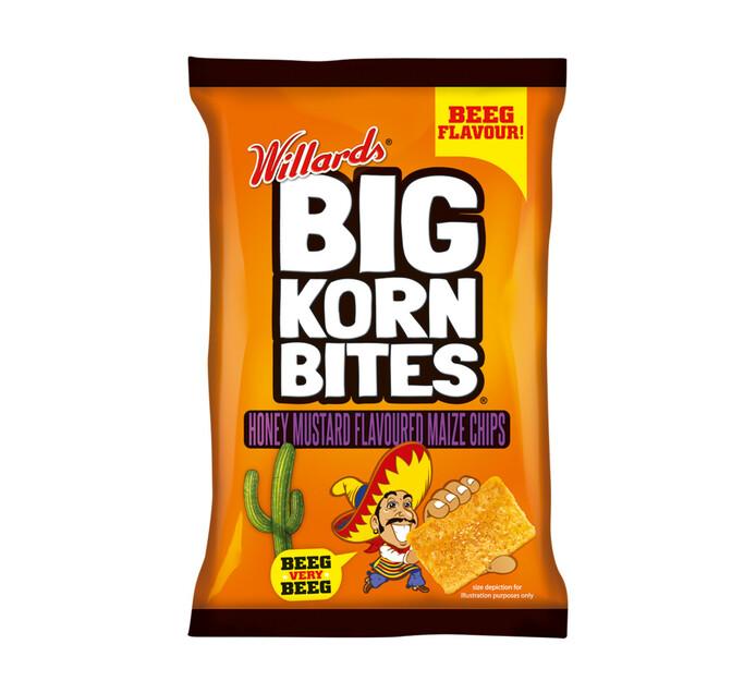 Willards Willards Big Korn Bites Honey & Mustard (48 X 50g)