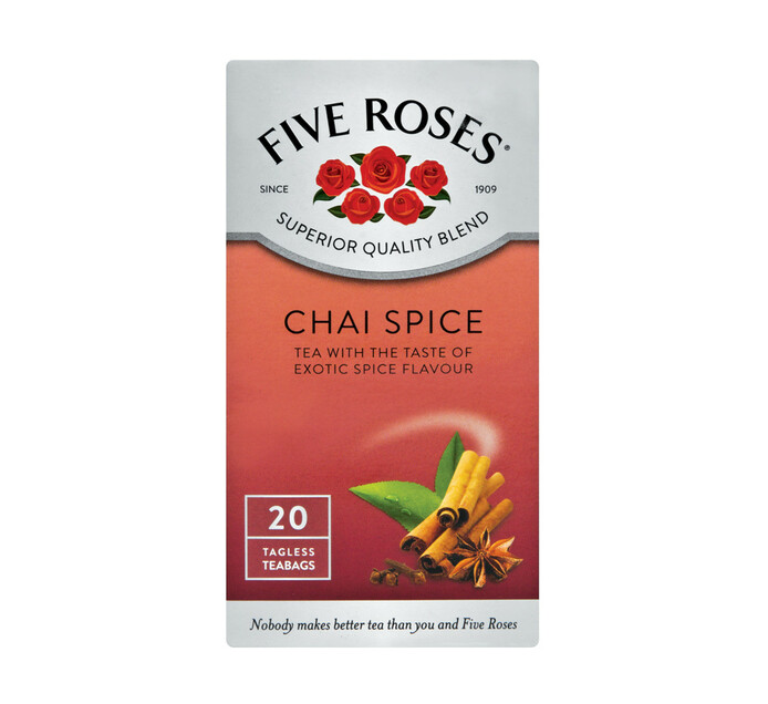 Five Roses Flavoured Tea Chai Spice (1 x 20's)