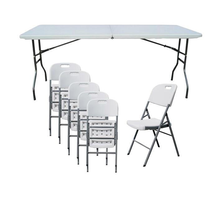 Karters Folding Table Plus 6 Chairs Camping Tables Camping