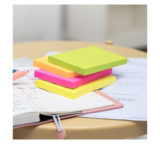 Deli Stationery Sticky Notes 76×126Mm 3``×5`` 100 Sheets Asst.