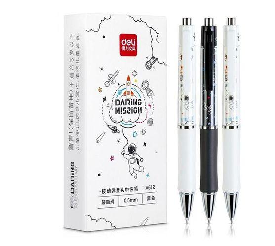 Deli Gel Pen 0.5Mm Black