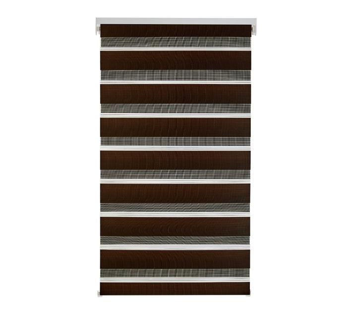 Decor Depot Zebra Roller Blind Chocolate 1000mm(w) X 1600mm(h)