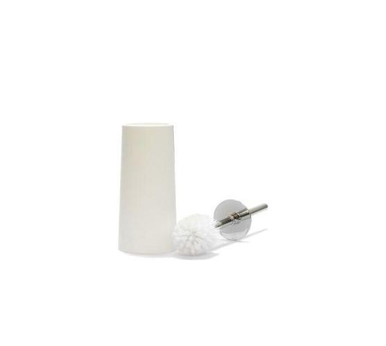 Toilet Brush Round Plastic White