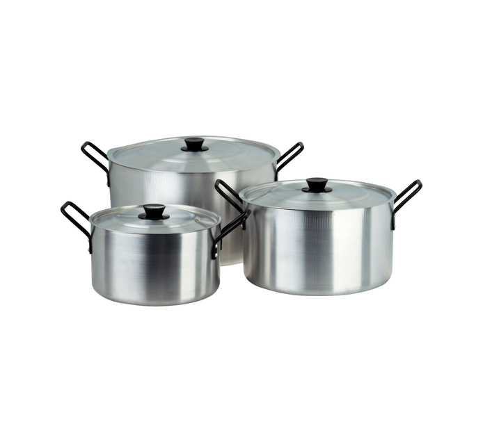 ARO Professional 3-Piece Aluminium Pot Set
