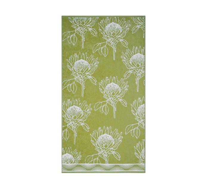 Glodina King Protea Velour Bath Towel green