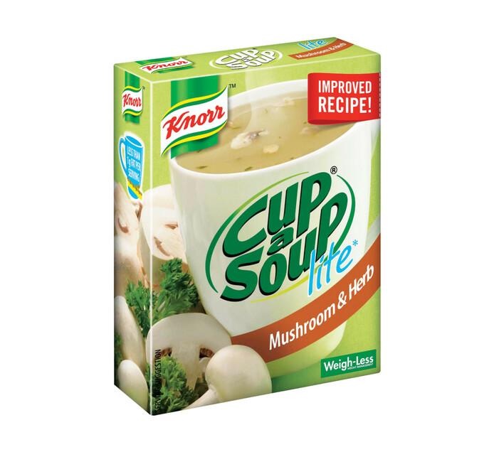 Knorr Cup A Soup Lite Mushroom & Herb (4 x 10)
