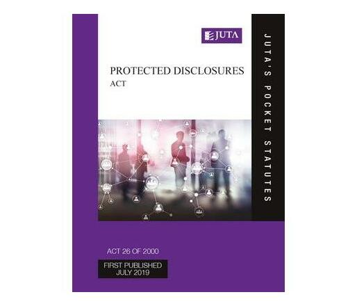 Protected Disclosures Act 26 of 2000 & Regulations