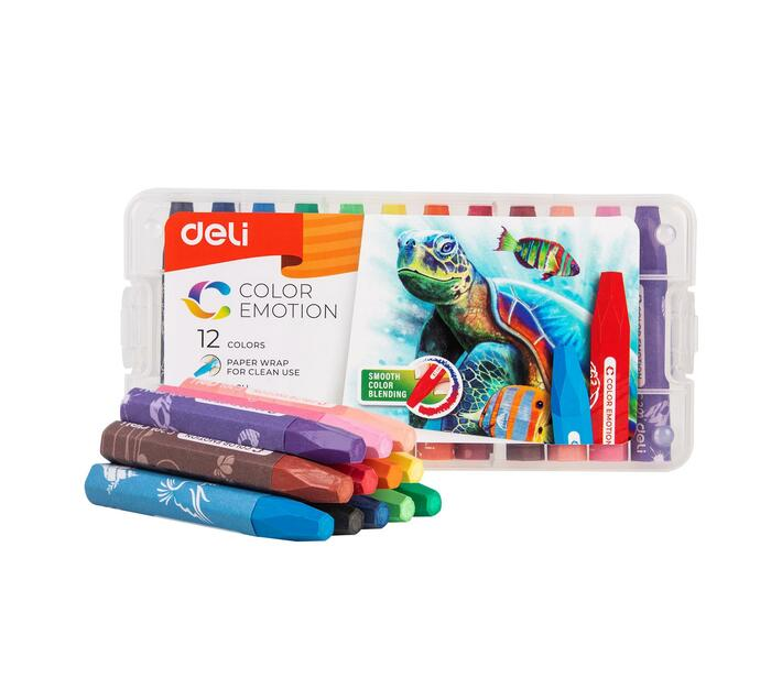 Deli Stationery Oil Pastel 12 Colors Asst.