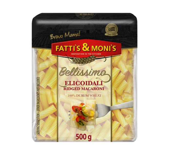 Fatti's & Monis Bellissimo Durum Wheat Pasta Macaroni (16 x 500g)