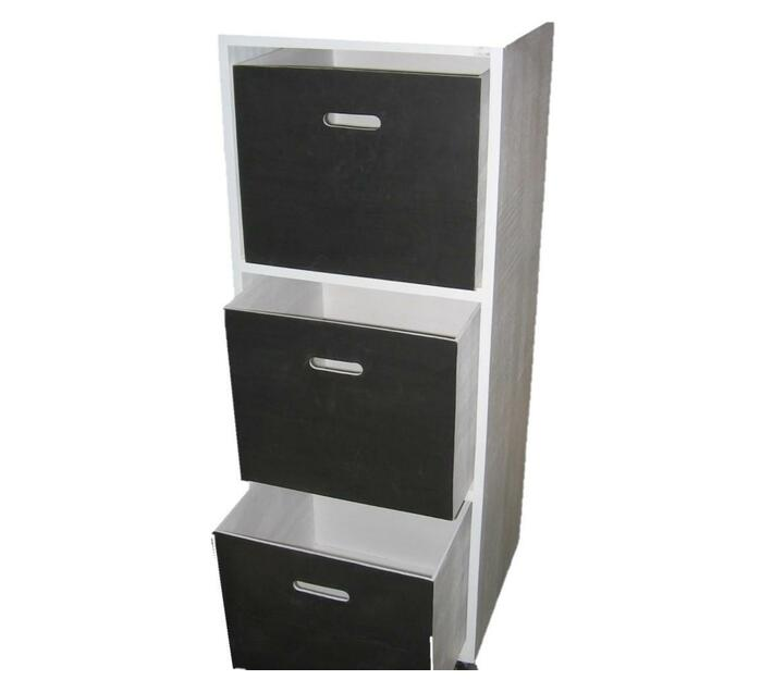 Chalkboard Unit 3 Drawer White Frame