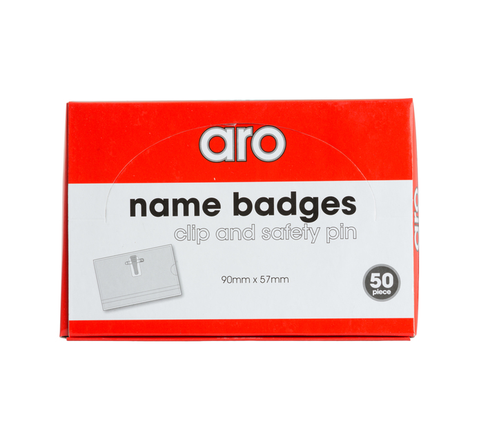 ARO 90 mm x 57 mm Name Badges with Clip