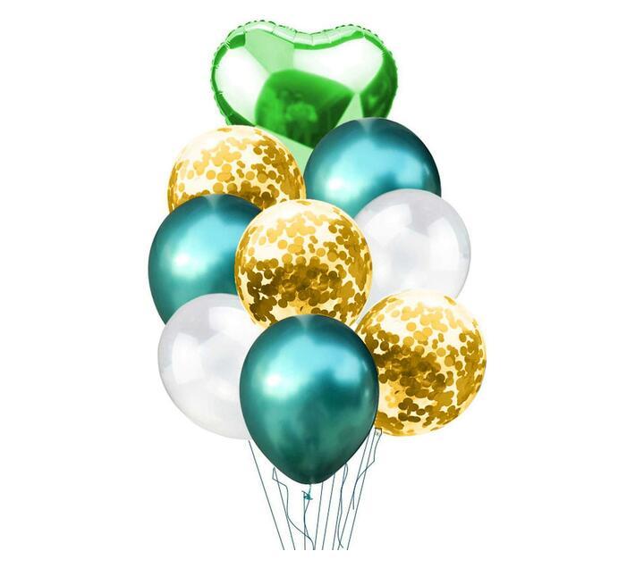 BubbleBean - Green Bunched Balloon 9pc