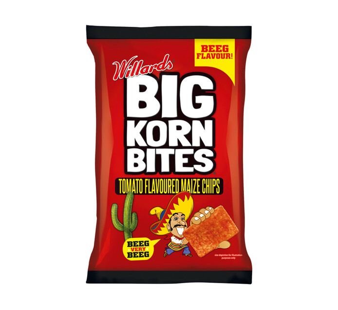 Willards Big Korn Bites Tamato (1 x 120g)