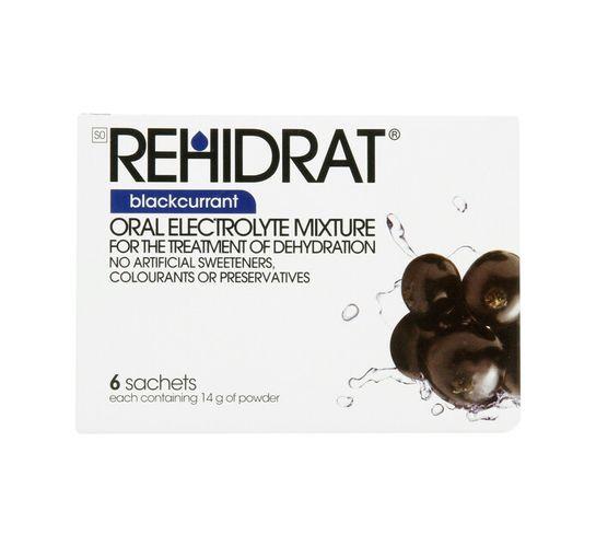 Rehidrat Hydration Powder Blackcurrant (1 x 6's)