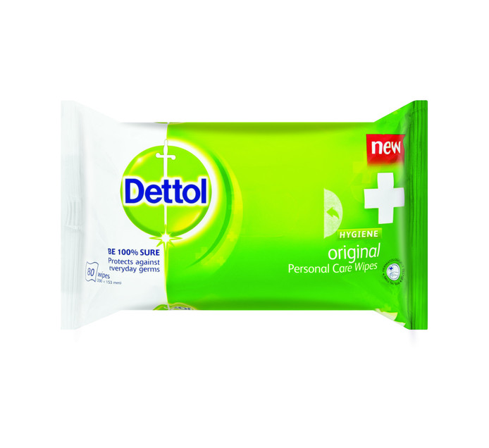 Dettol Hygiene Personal Care Wipes (1 x 80's)