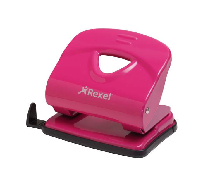 Rexel V230 2 Hole 30 Sheet Punch Pink Each Pink