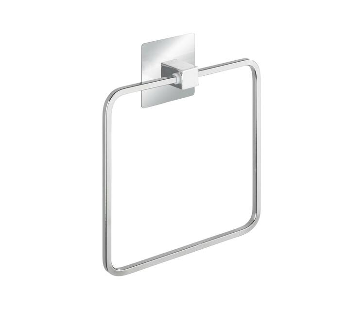 WENKO Turbo-Loc Stainless Steel Towel Ring Quadro Range - No Drilling Required