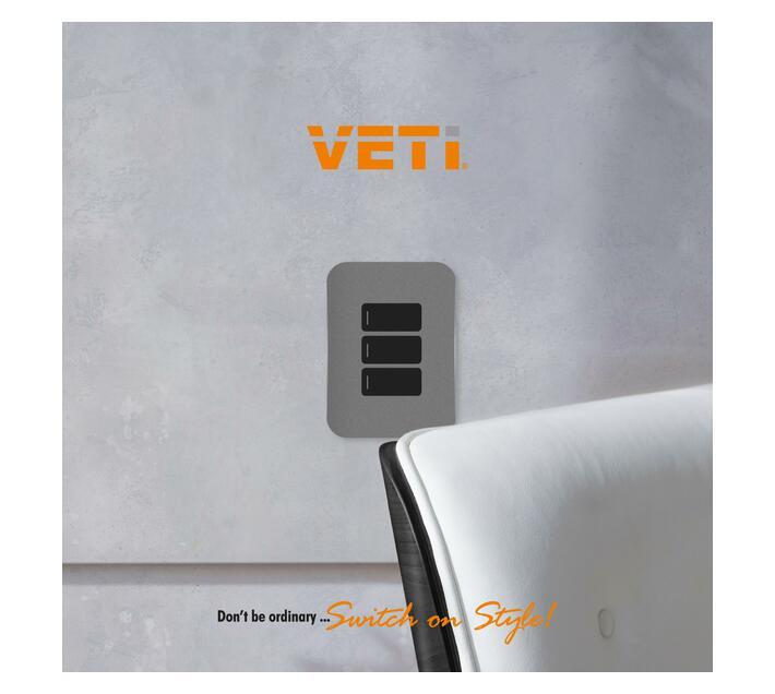 Cream Three Lever One-Way Horizontal Light Switch (VG111C3HWCR ) - VETi