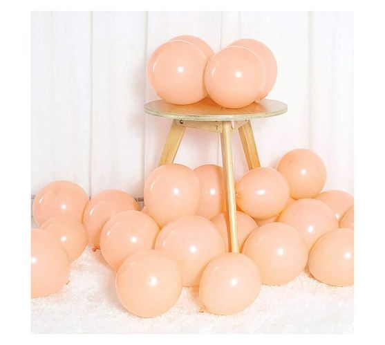 Party- Junxion Latex Helium Balloons - Peach - Pack of 6
